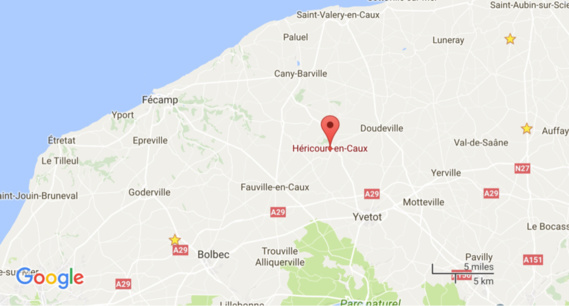 Une maison détruite par le feu à Héricourt, en Seine-Maritime : trois personnes à reloger