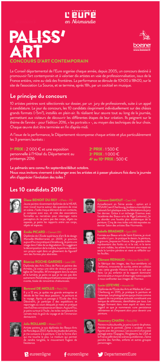 Concours Paliss'art : grand format, grand Art !