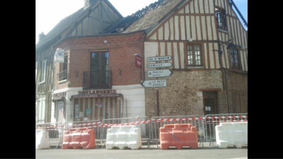 Eure : incendie dans une boulangerie ce matin aux Andelys