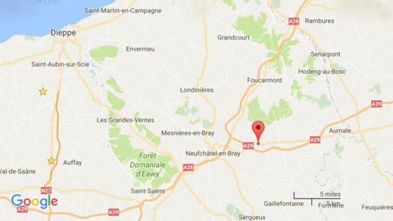 Seine-Maritime : un motard de la gendarmerie blessé dans un accident de la route à Mortemer