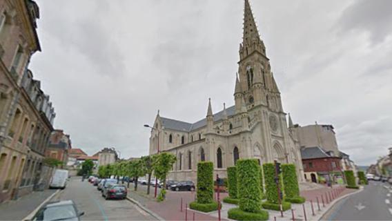 L'église de l'Immaculée-Conception dans le centre-ville d'Elbeuf (Illustration@Google Maps)