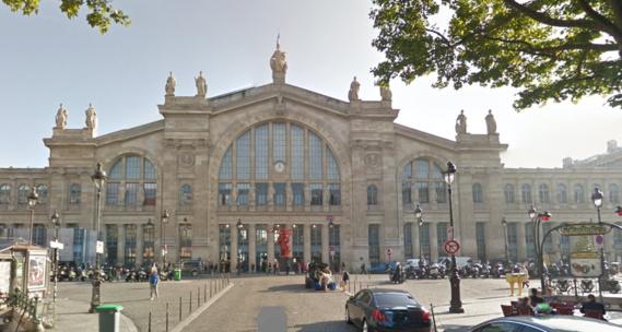 La gare du Nord, à Paris (Illustration)
