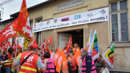 Les syndicats sont déterminés à ne pas accepter n'importe quel relogement (photo extraite du site Solidaires.org)