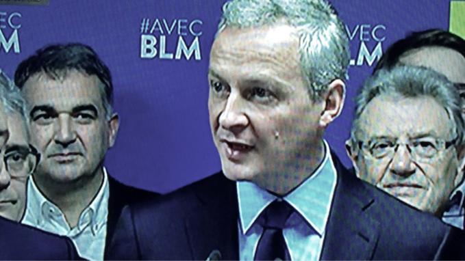 Bruno Le Maire a annoncé dès dimanche soir en direct à la television qu'il soutenait François Fillon au deuxième tour (capture d'écran@infonormandie)