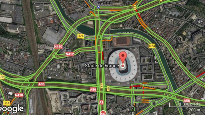 France - Nouvelle-Zélande de rugby : circulation difficile aux abords du Stade de France samedi