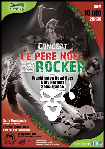 Le père Noël est un rocker, le 10 décembre à la salle municipale de Limay