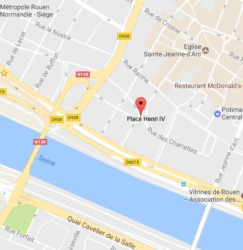 Seine-Maritime : fuite de gaz place Henri IV à Rouen