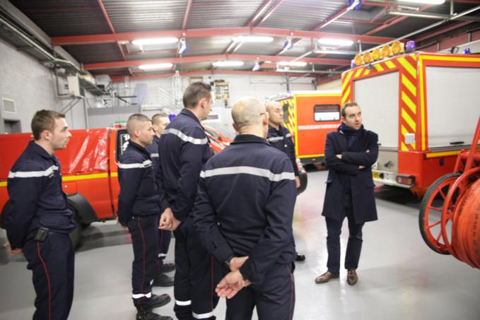 Police, gendarmerie, pompiers... la tournée du réveillon du président du Département de l'Eure