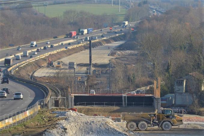 La construction du troisième tablier du viaduc de Guerville va générer des modifications de circulation sur le CD113 (Photo ©SAPN)