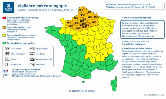 Cliquer sur la carte ©Météo France pour l'agrandir