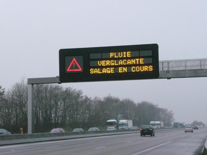 Prudence sur les autoroutes dans l'Eure et en Seine-Maritime où les pluies verglaçantes ont provoqué une série d'accidents (Photo©infoNormandie)