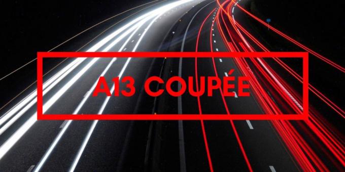 Carambolage important : l'A13 coupée à Flins-sur-Seine (Yvelines) en direction de Paris