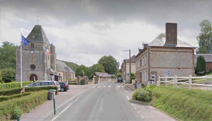 Le bourg de Bec-de-Mortagne compte quelque 700 habitants (©Google Maps)