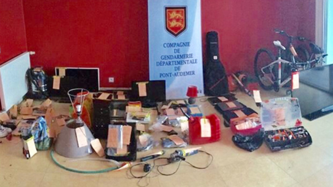 Une partie des marchandises dérobées ont été découvertes lors des perquisitions (Photo©Gendarmerie/Facebook)