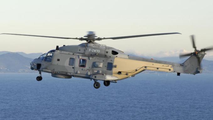 L'hélicoptère Caïman de la Marine a participé aux recherches (illustration Défense nationale)