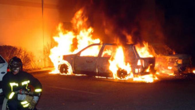Deux des véhicules ont été détruits par propagation (illustration)