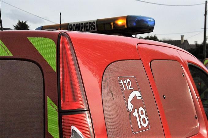 Quatre véhicules de secours et deux ambulances ont été mobnilisés (Illustration©infoNormandie)