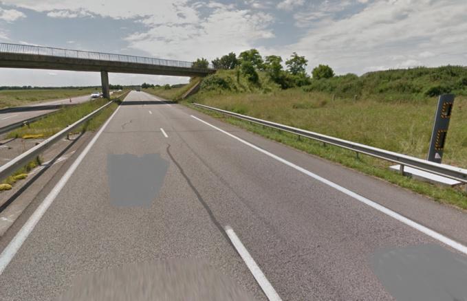 La refection de la chaussée est prévue entre le radar d'Irreville et l'échangeur de Caër (Gravigny)