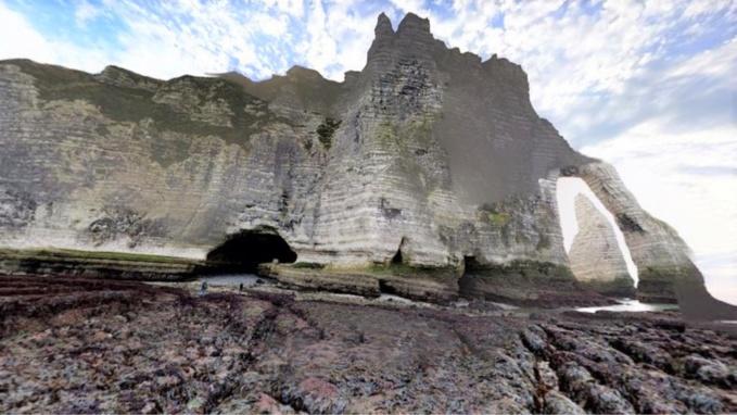 Les randonneurs ont été isolés par la marée montante au niveau du trou à l'homme (Illustration)