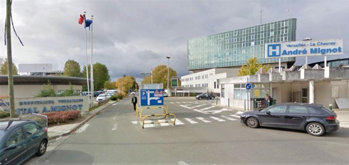 La fillette a été admise aux urgences pédiatriques au Centre hospitalier du Chesnay (Illustration © Google Maps)