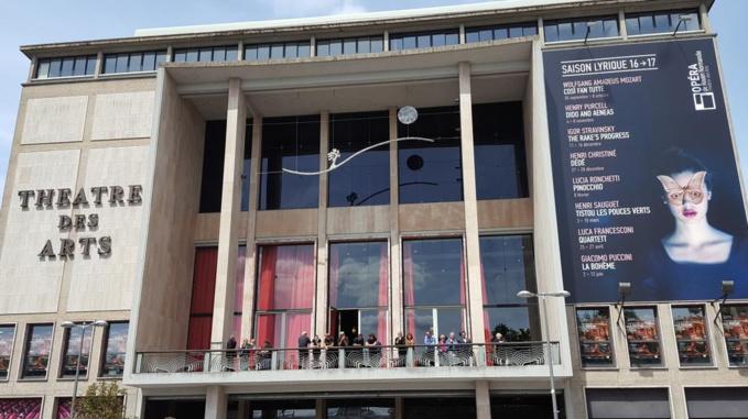 La salle de l'Opéra a été évacuée après le déclenchement de deux alarmes incendies (Illustration @csaulneron /Twitter)