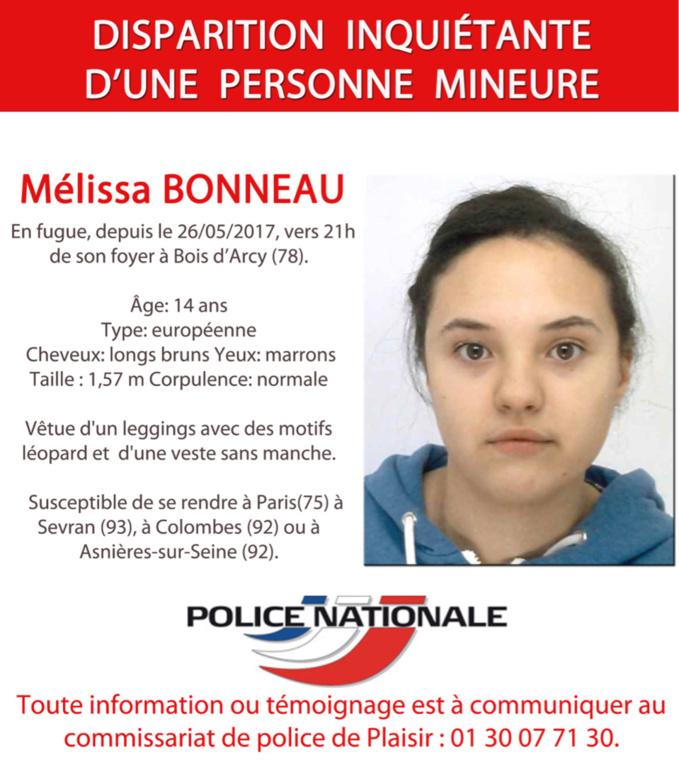 Yvelines : appel à témoin après la disparition d'une adolescente de 14 ans d'un foyer de Plaisir