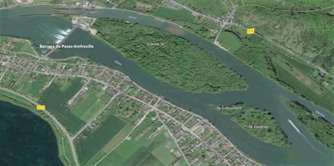 Un homme retrouvé mort sous sa tente sur une île entre Poses et Amfreville-sous-les-Monts (Eure)