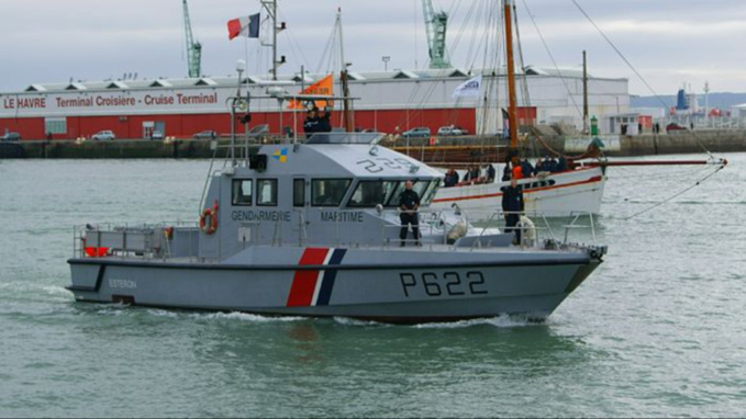 Le patrouilleur Esteron de la gendarmerie maritime du Havre a intercepté le chalutier au large de Fécamp (illustration @wikipedia)