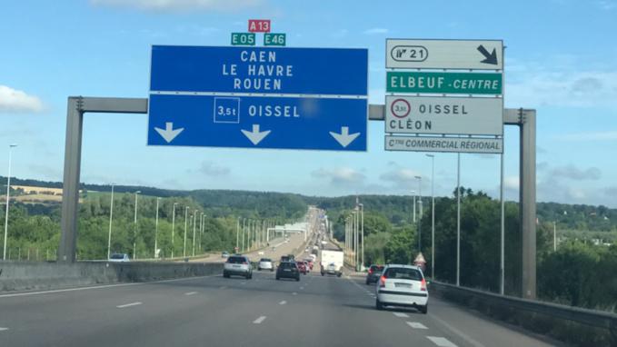 Trafic soutenu vers la Normandie ce matin (photo @infonormandie)