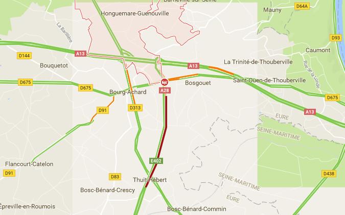 Eure : l'autoroute A 28 coupée dans le sens Alençon – Rouen à cause d'un accident de poids-lourd