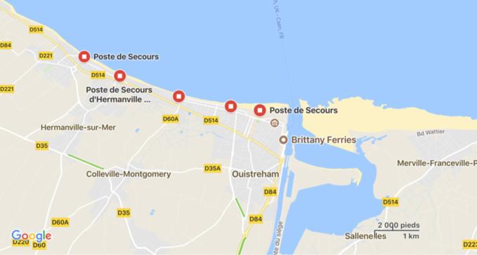 Un nageur porté disparu au large de Ouistreham après 4 h de recherches et d'importants moyens déployés