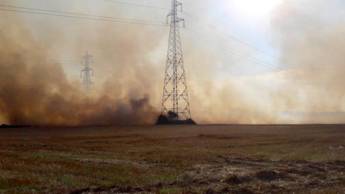 L'incendie n'a pas de fait de dégâts hormis les récoltes qui ont brûlé
