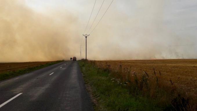 Écran de fumée sur la D89
