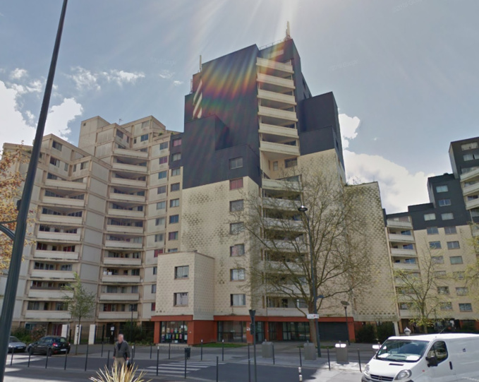 L'octogénaire est tombé du 7ème étage de cet immeuble, rue Pablo Neruda (Illustration ©Google Maps)