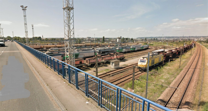 L'incident s'est produit dans la zone de la gare de triage de Sotteville-lès-Rouen, près du point de Quatre Mares