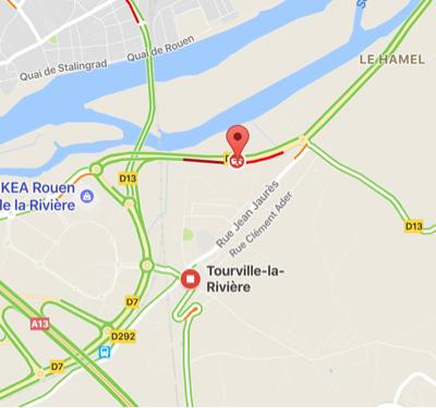 Un motard blessé grièvement dans une perte de contrôle cet après-midi à Tourville-la-Rivière