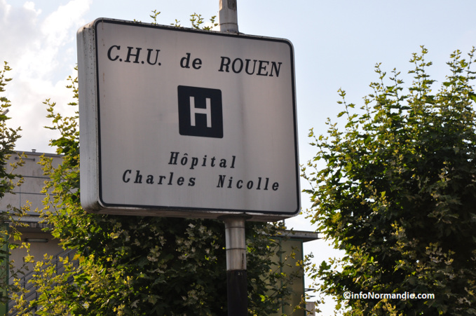 La victime a été admise à l'hôpital Charles Nicolle (Illustration ©infoNormandie)