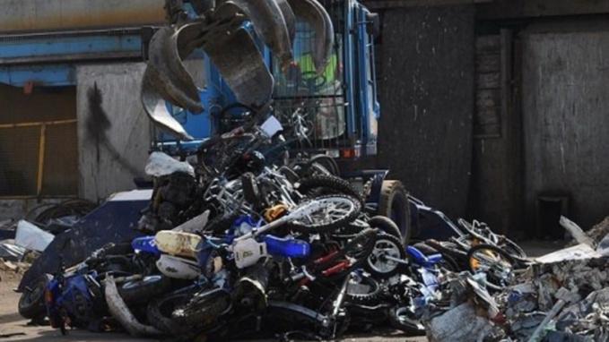 Dans nombre de cas, les motos, quad et autres engins non homologués sont saisis et détruits par les services de police (photo @ DDSP76)
