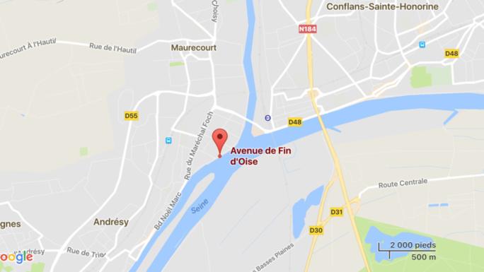 Andrésy : les policiers repêchent dans la Seine le corps sans vie d'un homme non identifié