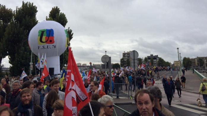 Fonction publique : plusieurs milliers de manifestants en Seine-Maritime