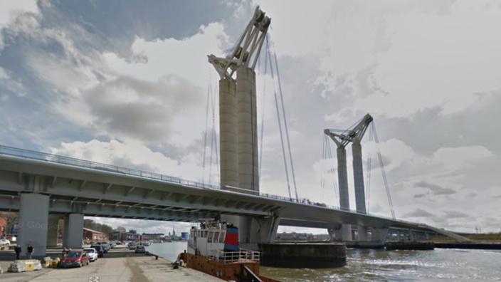 Le pont Gustave Flaubert à Rouen (Illustration @ Google Maps)