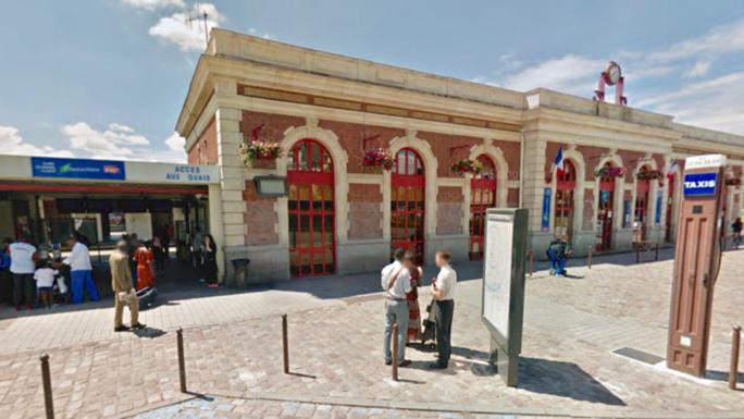 La gare de Mantes-la-Jolie (Illustration @ Google Maps)