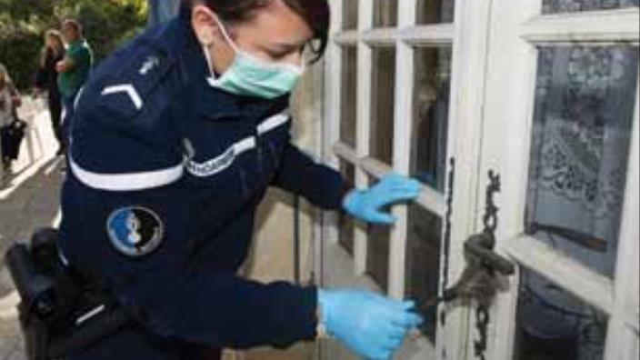 Les investigations techniques réalisées par la gendarmerie ont permis de retrouver la trace du cambrioleur (Illustration @ gendarmerie/Facebook)