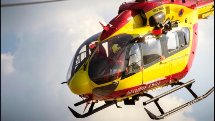 La victime a été transportée par hélicoptère au CHU de Rouen (Illustration)