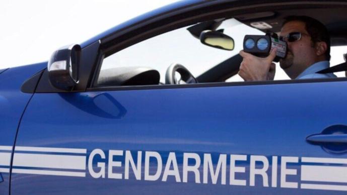 La conductrice contrôlée par les gendarmes à 150 le/h sur une route limitée à 90 (Illustration)