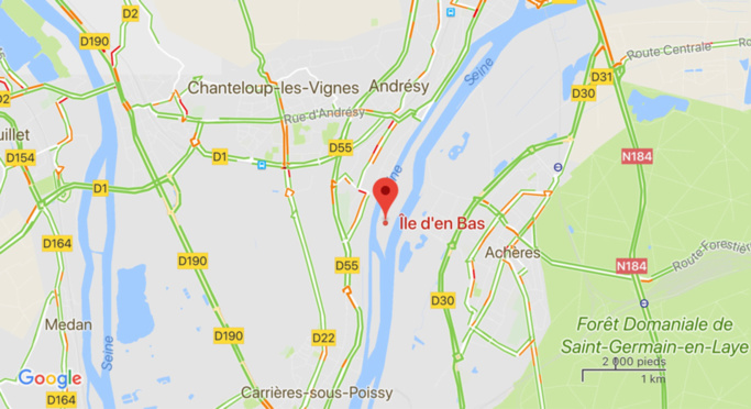 Yvelines : une voiture volée à Paris repêchée dans la Seine a Andrésy