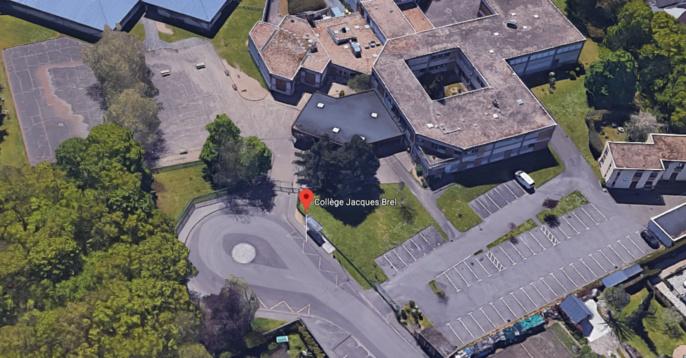 Les 300 élèves du collège ont été évacués par le personnel de l'établissement avant l'arrivée des pompiers (Illustration © Google Maps)