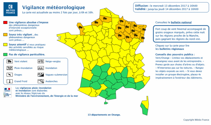 Document © Météo France (Cliquer sur la carte pour l'agrandir)