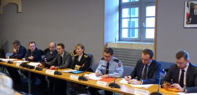 Le comité a été officiellement installé ce matin par la préfète de Seine-Maritime (Photo © Préfecture76 / Twitter)