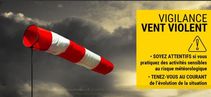 Vent violent en Seine-Maritime : 64 interventions des sapeurs-pompiers, pas de blessé